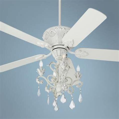 casa deville rubbed white chandelier ceiling fan