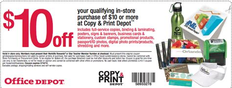 Office Depot Coupons Print Services by Bargain Is The New Black Printable Coupon Office Depot