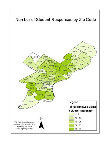 philadelphia map with zip codes