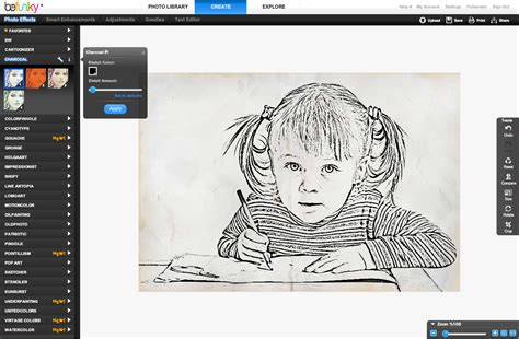 sketch design software turn your photos into charcoal drawings befunky