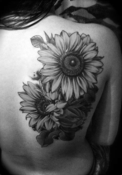 From Delicate to Rebellious: 40 Fabulous Flower Tattoos | Sunflower tattoo | Sunflower tattoos