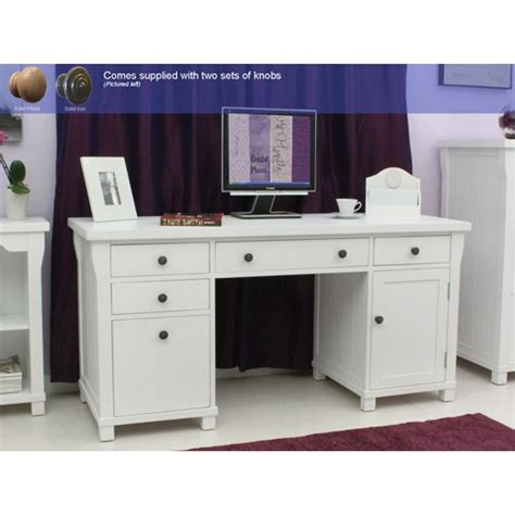 what is a double pedestal desk hton white painted double pedestal computer desk