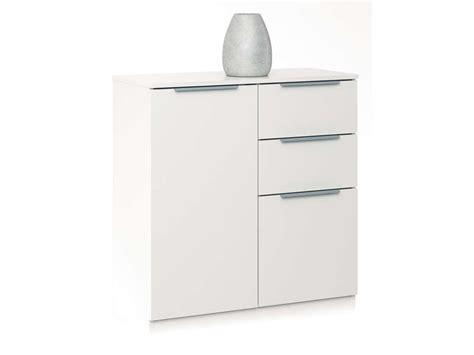 rangement 2 portes 2 tiroirs chest coloris blanc vente