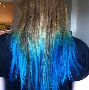 Brown Hair With Blue Dip Dye | www.pixshark.com - Images ...