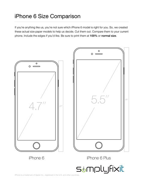 What size is the iPhone 6 compared to my current phone?