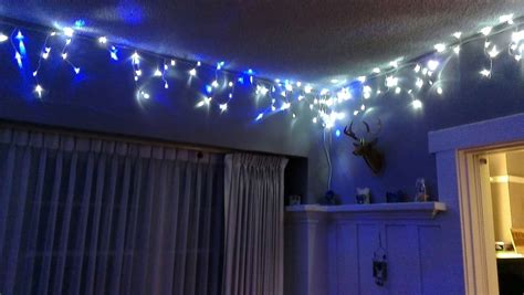 decorating extraordinary led icicle lights with blue