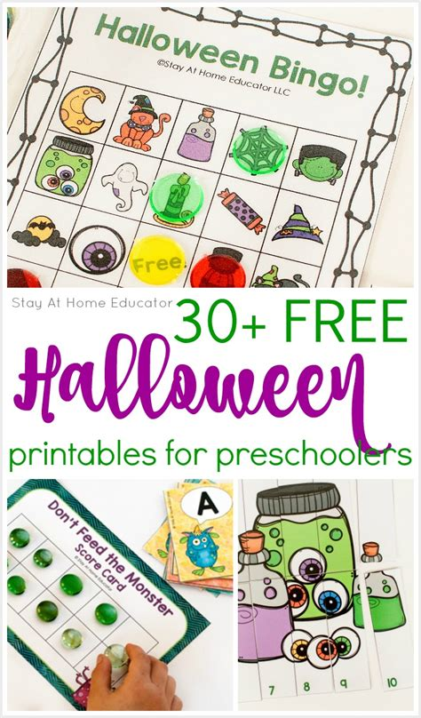 30 free printables for preschool stay at home 190 | 30 FREE Halloween printables for preschoolers