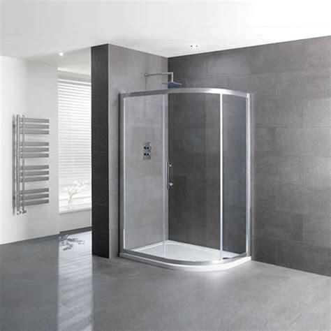 volente single door offset quad silver shower enclosure