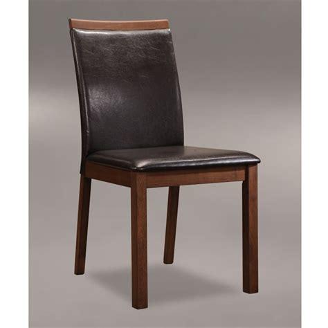 chaises simili cuir chaise bois et simili cuir maison design modanes com