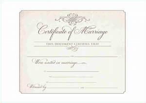 10 printable marriage certificate academic resume template for Wedding certificate templates free printable