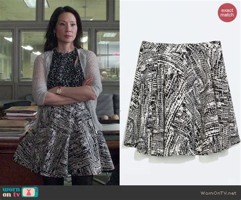 WornOnTV: Joan's black and white printed top and skirt on ...