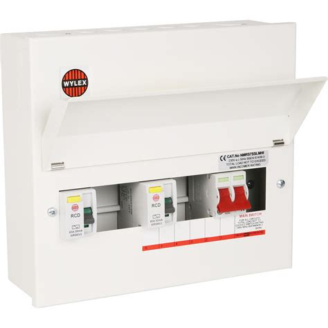 wylex metal 17th edition amendment 3 dual rcd consumer unit 7 way high integ toolstation