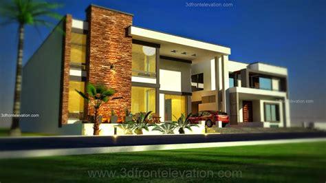 3d Front Elevationcom 1 Kanal Modern + Simple + Elegant