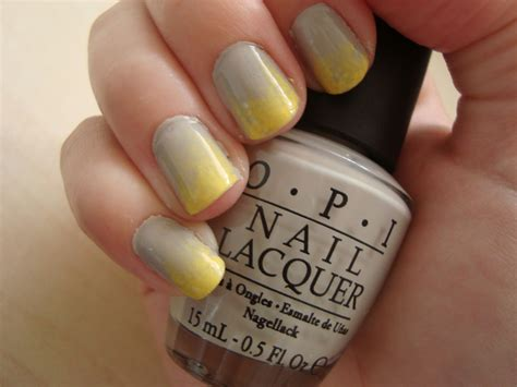 extra grey  yellow ombre nails