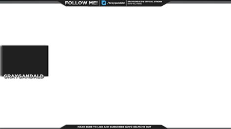 obs templates design a clean twitch overlay for obs fiverr