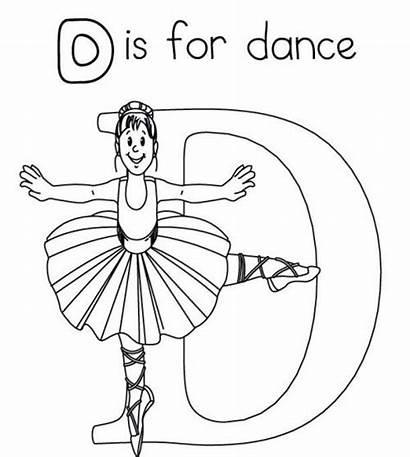 Coloring Dance Pages Ballet Dancer Printable Jazz