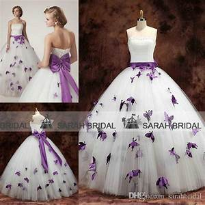 2015 purple butterfly wedding dresses for unique brides With purple wedding dresses for sale