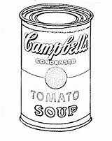 Soup Warhol Coloring Andy Pages Pop Lessons Cans Campbell Lesson Drawing Handouts Easy Sheets Middle Success Tomato Arte Calculating Chaos sketch template