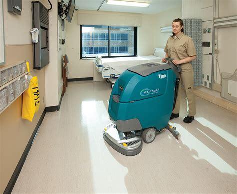 Tennant Floor Stripping Machine by Tennant T300 And T300e Walk Floor Scrubbers 2
