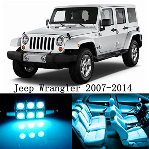 jeep blue interior 10pcs led premium ice blue light interior package deal for
