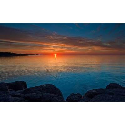 Lake Superior Solstice Sunrise : Gooseberry Falls State