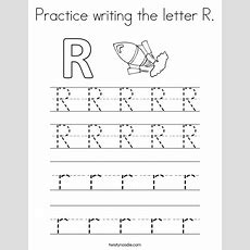 Practice Writing The Letter R Coloring Page  Twisty Noodle