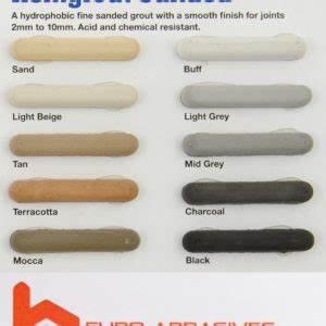 Davco Colour Grout Chart Asa Bostik Sanded Designer Grout Tile Grout Online