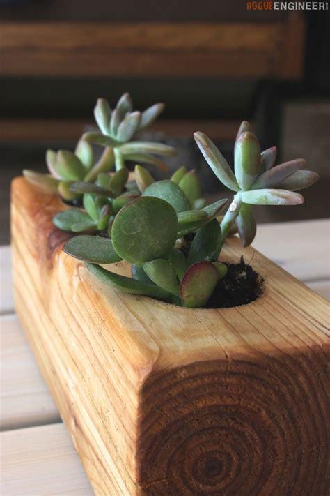 diy scrap wood succulent planter tutorial planters