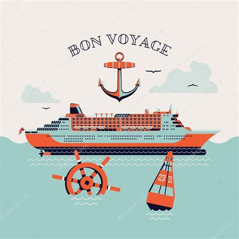 bon voyage printable poster stock vector  mashatace