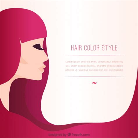 list style color hair color style template vector free