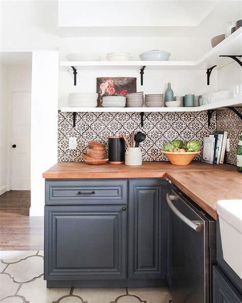 farmhouse kitchen open shelving choices  happy housie