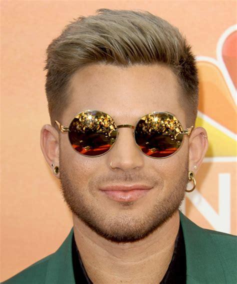 Adam Lambert Short Straight Formal Hairstyle   Light