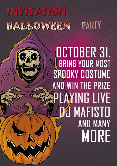 10+ Halloween party invitation psd template free
