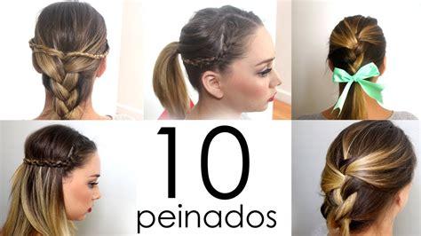 peinados faciles  rapidos  cabello corto  largo youtube