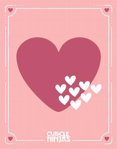 Graphic Valentine Cards Font Designers Am Valentines