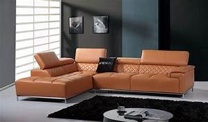 Divani Casa Citadel Modern Orange Italian Leather