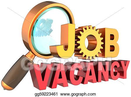 stock illustration job vacancy recruitment search clip