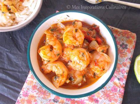 recette de cuisine avec des crevettes fricassee de crevettes recette antillaise le