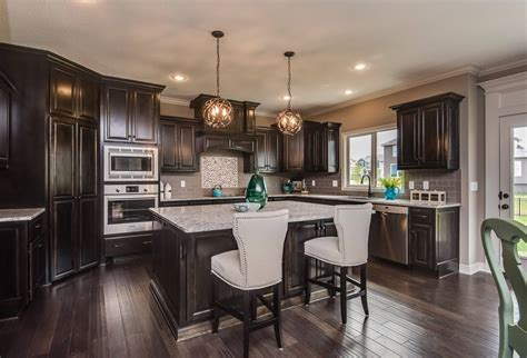 Black Stained Kitchen Cabinets   Iowa Remodels