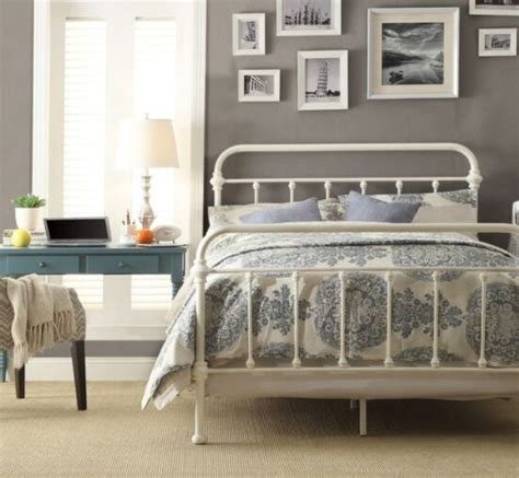 full antique white victorian iron metal beds bed frame