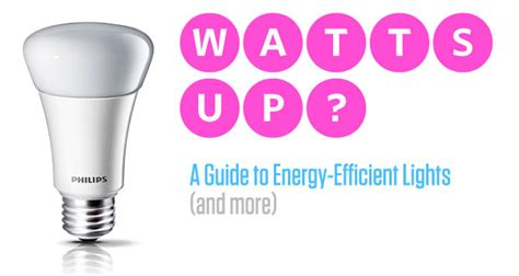 watts up guide to energy efficient lights