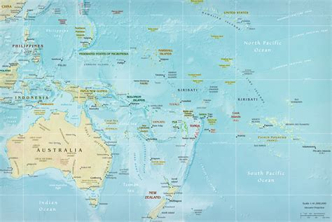 map  oceania pacific islands