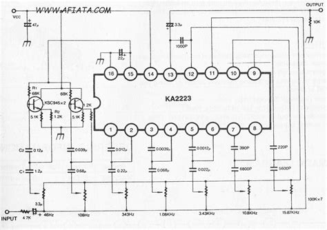 Band Audio Graphic Equalizer Electronic Circuit