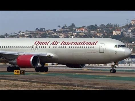 Omni Air International Boeing 767-300ER Taxi and Takeoff ...