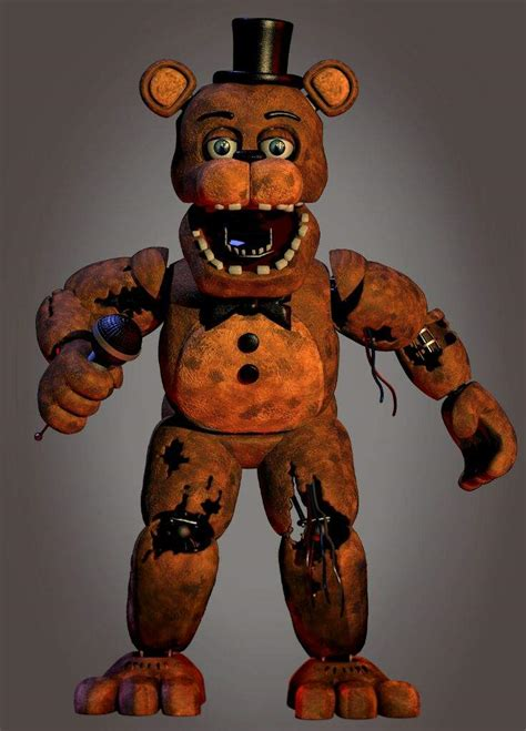 withered freddy merchandise render full body