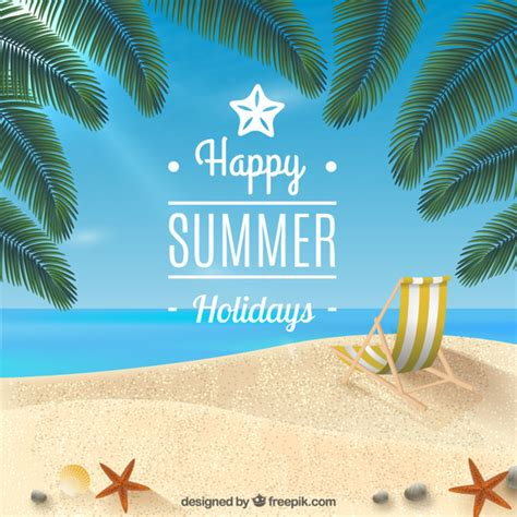 Buone vacanze estive sfondo | Vettore Gratis