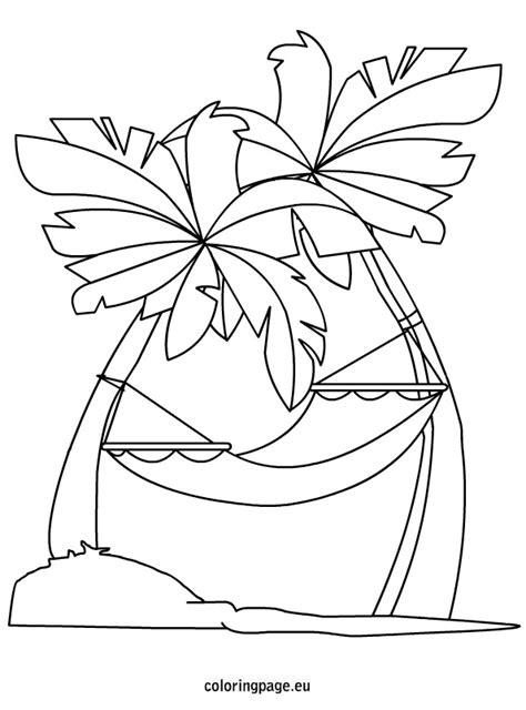 summer hammock coloring page