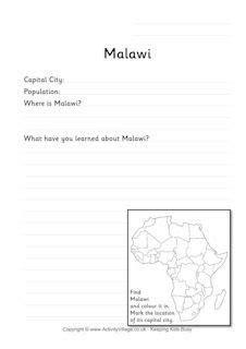 country fact worksheets
