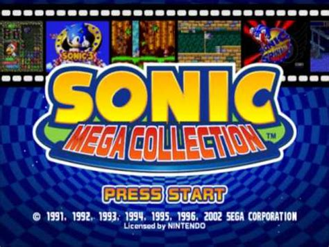 sonic mega collection title screen theme youtube