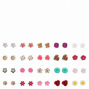 Tiny Flower Stud Earrings Set | Claire's US